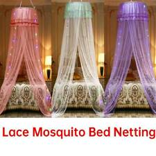 Lace Mosquito Bed Netting Mesh Canopy Princess Round Elegant Home Bedding Net