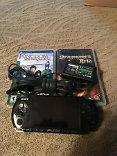 PSP 3001 with Power Supply & 2 Games (no memory card)
