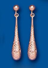 Rose Gold Earrings Bomb Dangle Drop Red Gold Drops