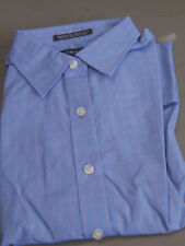 NEW! Lands End WOMENS L/S WRINKLE FREE BROADCLOTH BLUE PLAID SHIRT BLOUSE 18W