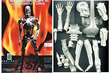 "13""T800 Terminator Endo Skelton Sci-Fi Action Movies Vinyl Model Kit 1/6"