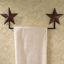"22"" Burgundy Barn Star Towel Rack"