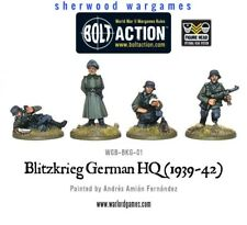 28mm Warlord Blitzkrieg German Command HQ Group, 1939-42, WWII Bolt Action, BNIB