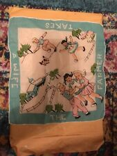 Children's Vintage Handkerchief Farmer In The Dell