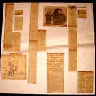 LOT 1913 - 1921 CLIPPINGS PRESIDENT WOODROW WILSON WITH PHOTOS POLITICAL CARTOON