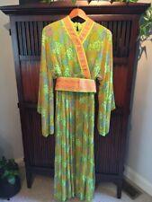 Vintage Oscar De La Renta Boutique Label - Floral Spring Green Beautiful Dress
