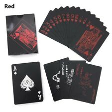 Waterproof PVC Plastic High Quality Poker Playing Cards Deck - Black Red