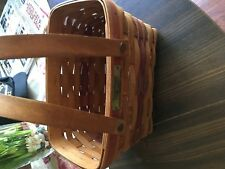 One 1992 Christmas Collection Seasons Greetings Basket 2 Handled - Longaberger