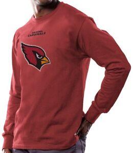 Arizona Cardinals Majestic NFL Critical Victory Men's Long Sleeve Red T-Shirt