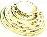 Homer Laughlin Eggshell Georgian Replacement Setting 6 Porcelain Dishes Vintage