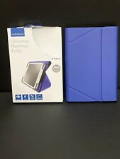 Insignia Bright Blue Universal Flex View Folio 8inch  Tablets Adjustable Corners