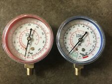 R134A Replacement Gauges High And Low Side Red And Blue (Free Shipping)