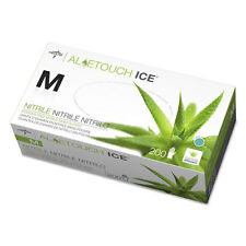 Medline Aloetouch Ice Nitrile Exam Gloves Medium Green 200/Box MDS195285