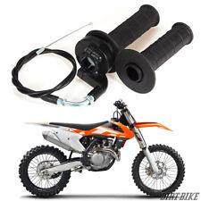 Twist Throttle Handle Grip + Cable for Dirt Bike Quad ATV Pit 50cc 125cc 150 250