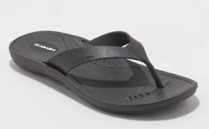 Okabashi Women's Breeze Sustainable Black Flip Flop Sandals Large 9.5-10.5