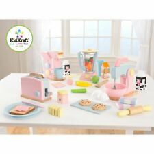 KidKraft Spielzeug Toaster 8-tlg. Pastell Küchenspielzeug Kinder Toaster