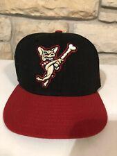 El Paso Chihuahuas Black Fitted Hat Cap Sz 7 5/8 MiLB New Era 59Fifty Flat Bill