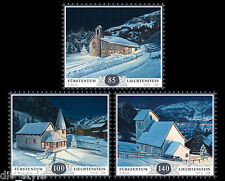 Christmas 2014 Mountain Chapels Set of 3 stamps mnh Liechtenstein