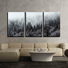 "wall26 - Canvas Wall Art - Misty Forests  - 16""x24""x3 panels"