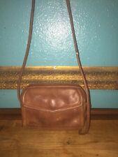 ~Vintage~FOSSIL~Genuine Brown Pebbled Leather Small Handbag Organizer Purse~