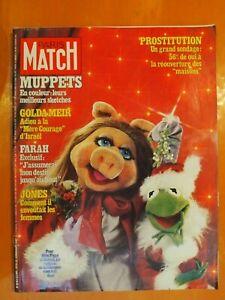 Paris Match 1543 du 22/12/1978-Les Muppets-Golda-Meir-Farah-Jones-Prostitution