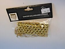 Gold Beaded Choker Dancer Costumes Halloween Party Theater Dance Recital Contest