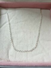 Genuine Sterling Silver Classic Cable Chain Pandora Necklace Ale S925 45Cm