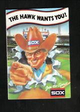 Chicago White Sox--Ken Harrelson--1986 Pocket Schedule--Budweiser