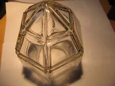Lampen Schirm Kristall Handgeschliffen poliert Jugendstil sechseckig  sehr gut.