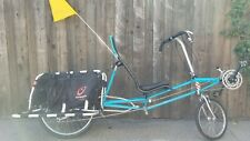 Recumbent bicycle Lightning Thunderbolt! With Xtracycle! BEAUTIFUL BICYCLE!!