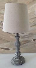Landhaus Holz Tischlampen Schreibtischleuchte Antik Barock 44 cm Lampe 66-10