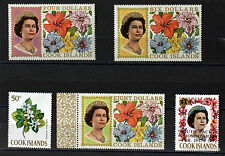 COOK ISLANDS  25 TIMBRES NEUFS  FLEURS FLOWERS  FLORE 98M153