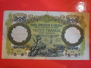 banconota 20 franchi occupazione Italiana Albania