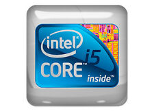 "Intel i5 inside 1""x1"" Chrome Domed Case Badge / Sticker Logo"