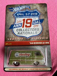 Hot Wheels 19th Annual Collectors Nationals'66 Dodge A100. 4000 Made