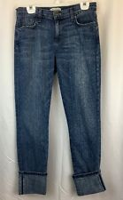 Current/Elliot Jeans Women's Size 28 Cuffed Skinny Fit Light Washed Whiskered