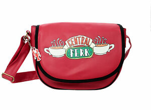 Friends Shoulder Saddle Bag Faux Red Leather With Central Perk Design NEW