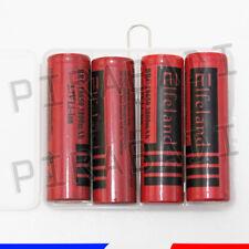 4 PILES ACCUS RECHARGEABLE 18650 3.7V 3800mAh Li-ion + BOITE DE RANGEMENT OFFERT