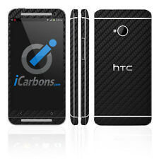 HTC ONE - Black Carbon Fibre skin by iCarbons