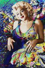 MARILYN MONROE - FLOWERS ART POSTER - 24x36 - 3278