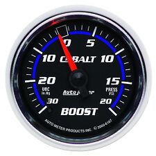 "AUTO METER COBALT 2 1/16"" 20 PSI VACUUM / BOOST PRESSURE GAUGE (52mm)"