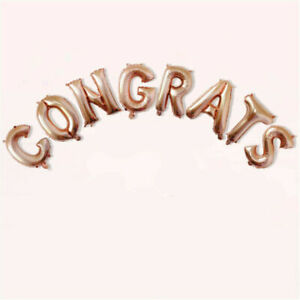 16 inch Letters CONGRATS Foil Balloons Banner Graduation Party Supply Decoration