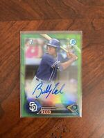 Buddy Reed 2016 Bowman Chrome Draft Green Refractor Auto Oakland A's🔥