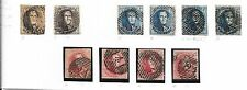 Belgium stamps 1849 Collection of 10 stamps/CANCELS  Cat Value $2850