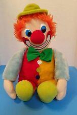 Vintage 1980 Intrigue Industries Clown plush / stuff animal