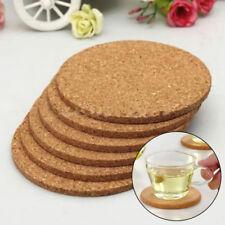 6 Stück Küche rund Pad einfaches Holz Wein Becher Tasse Matte Kork Kaffee
