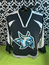 CCM Augusta Lynx 1999-2000 Team Autographed Black Silver Hockey Jersey - Sz. M