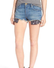 TRUE RELIGION 23 NWT 179$ Scout Denim Gypset Blue BF Mullet Cut Off Jeans Shorts
