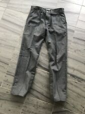 Filson gray wool hunting pants tin cloth reinforced 32 excellent