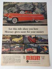 Original Print Ad 1953 MERCURY Let This Ride Show You How Monteray Vintage